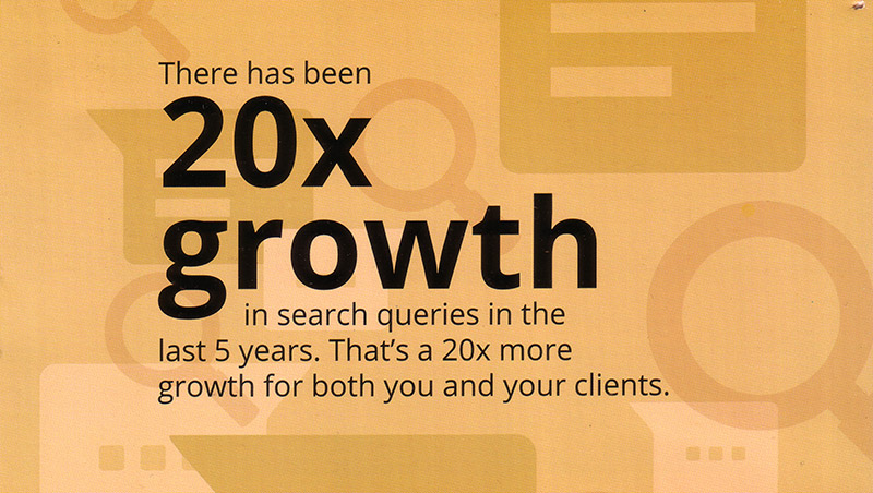 20X Growth in Search Queries