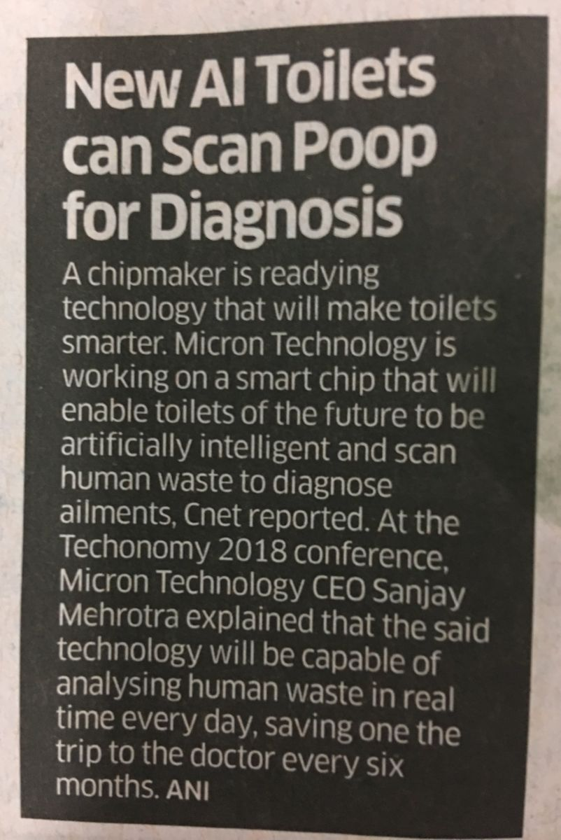 Toilets can Scan Poop for Diagnosis